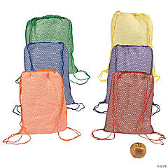 Bright Net Drawstring Backpacks