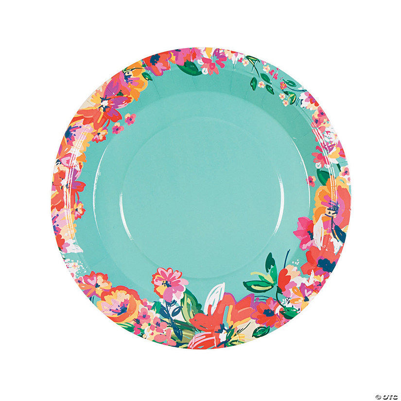 sc 1 st  Oriental Trading & Bright Floral Dinner Plates