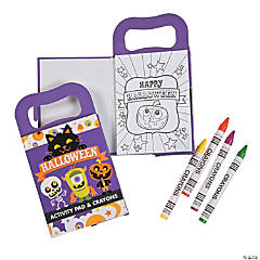Mini Halloween Activity Books with Crayons