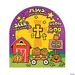 3D Christian Pumpkin Sticker Scenes