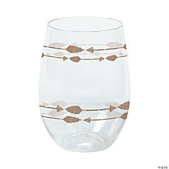 Tribal Baby Shower Stemless Wine Glasses
