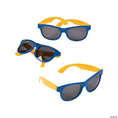 Blue & Gold Two-Tone Sunglasses