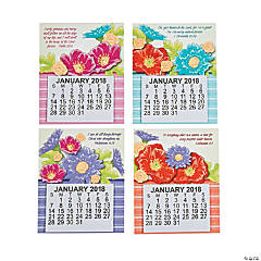 2018 Large Print Religious Calendar Magnets