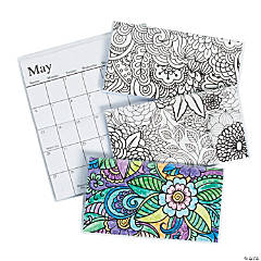 2018 - 2019 Adult Coloring Pocket Calendars