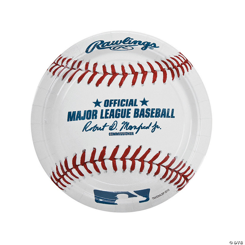 Major League Baseball™ Dinner Paper Plates  sc 1 st  Oriental Trading & League Baseball™ Dinner Paper Plates