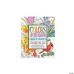 Seasons Color by Number Adult Coloring Book