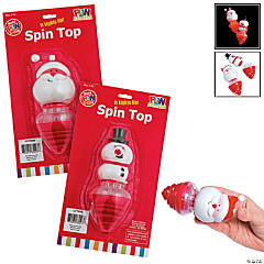 Light-Up Holiday Spin Tops