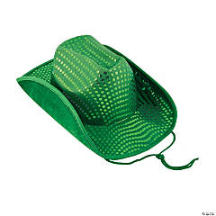 St. Patrick's Day Sequin Cowboy Hat