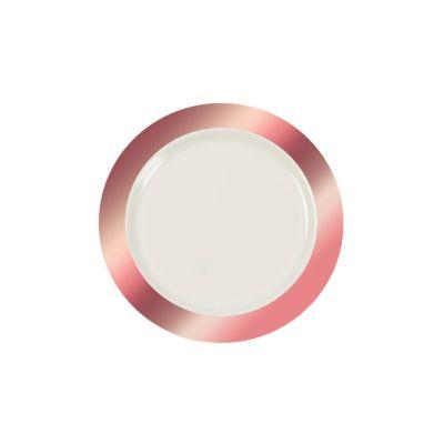 quickview · image of Ivory Premium Plastic Dessert Plates with Rose Gold Border with sku13779422  sc 1 st  Oriental Trading & White Square Premium Plastic Dessert Plates with Gold-Trim