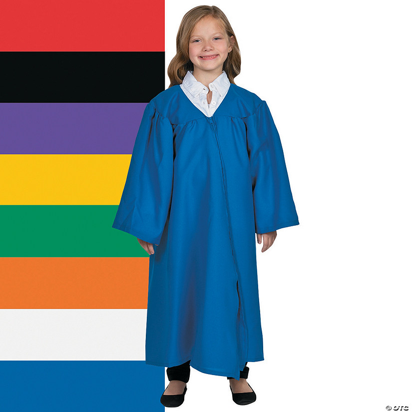 Kid\'s Matte Elementary School Graduation Robe