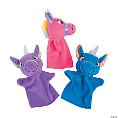 Plush Unicorn Hand Puppets