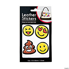Leather Emoji Stickers