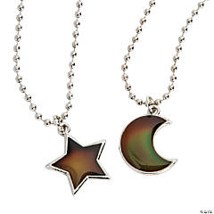 Moon & Star Mood Charm Necklaces