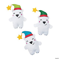 Nordic Noel Stuffed Polar Bears