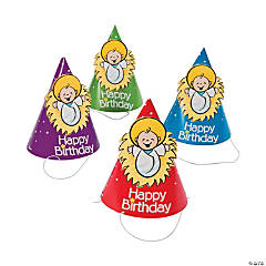 Happy Birthday Jesus Party Cone Hats