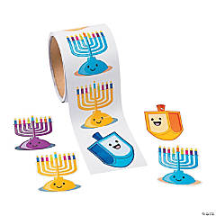 Hanukkah Candles Sticker Rolls