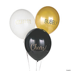 New Year's Sayings Latex Balloons