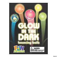 Bulk Vending Machine Glow-in-the-Dark Bouncing Balls Display Cards