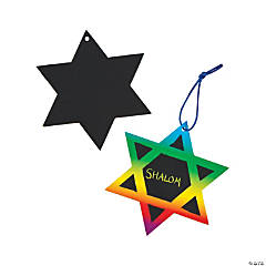 Star of David Magic Color Scratch Ornaments