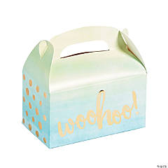 Watercolor Ombre Treat Boxes