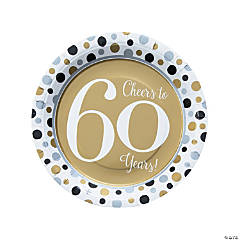 Cheers to 60 Years Paper Dinner Plates