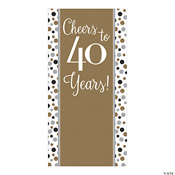 Cheers to 40 Years Backdrop Banner