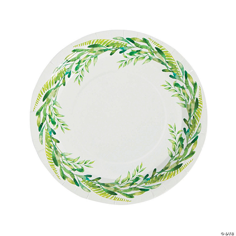 sc 1 st  Oriental Trading & Spring Greenery Paper Dinner Plates