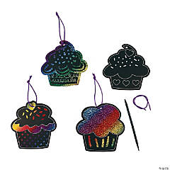 Magic Color Scratch Cupcake Ornaments