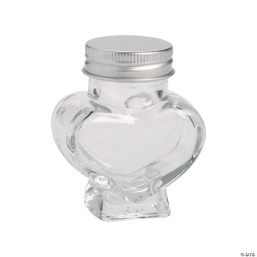 Mini Heart Shaped Favor Jars