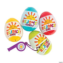 Rejoice Whistle-Filled Plastic Easter Eggs