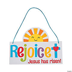 Rejoice! Jesus Has Risen Sign Craft Kit