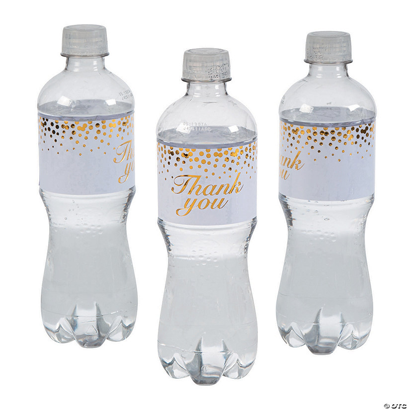Gold Dot Thank You Water Bottle Labels