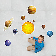 Solar System Floor Clings