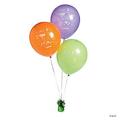 1st Birthday Zoo Latex Balloons
