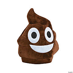 Plush Child's Poop Emoji Hat