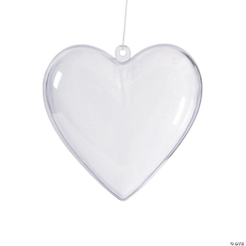 diy clear heart ornaments