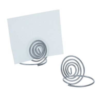 quickview image of small silver spiral place card holders with sku13788794