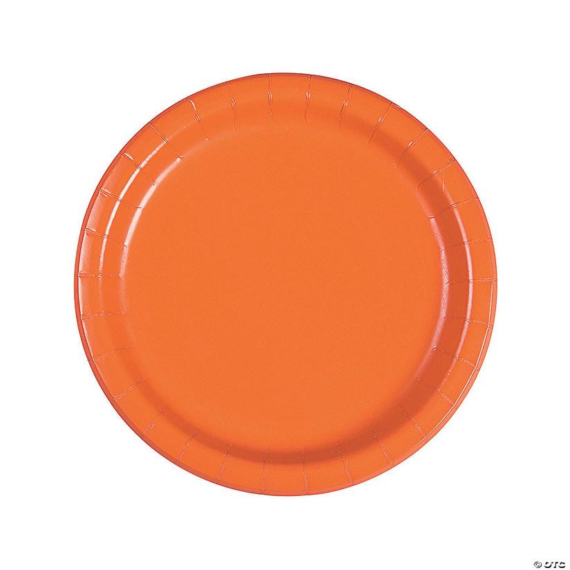 sc 1 st  Oriental Trading & Pumpkin Spice Orange Round Dinner Paper Plates