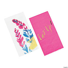 Fluorescent Floral Dinner Napkins