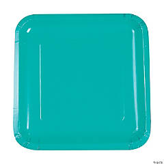 Teal Lagoon Square Dinner Plates