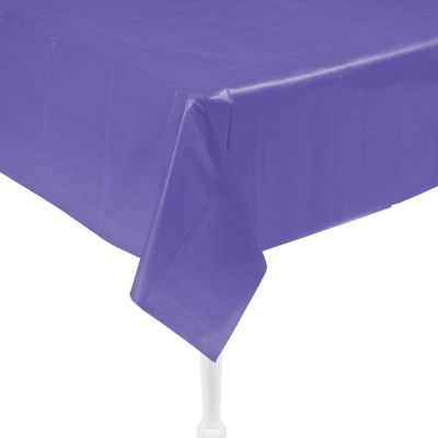 Quickview · Image Of Amethyst Plastic Tablecloth With Sku:13789042