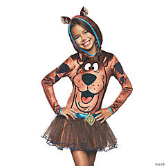 Girl's Scooby-Doo Hooded Dress Costume - Large