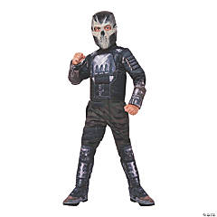 Boy's Deluxe Muscle Chest Crossbones Costume - Large