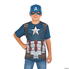Boy's Captain America: Civil War™ Captain America Costume Top & Mask - Large