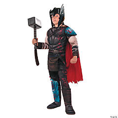 Kid's Deluxe Muscle Chest Gladiator Thor Costume - Small