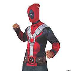 Men's Deadpool™ Costume Top & Mask - Extra Large