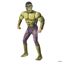 Men's Deluxe Muscle Chest Hulk Costume - Extra large
