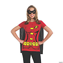 Women's Robin T-Shirt with Cape Costume - Large