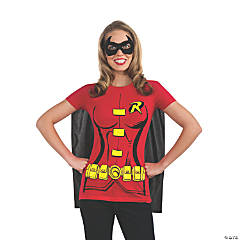 Women's Robin T-Shirt with Cape Costume - Small