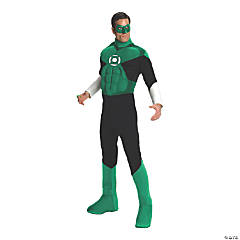 Men's Deluxe Muscle Chest Green Lantern Costume - Large